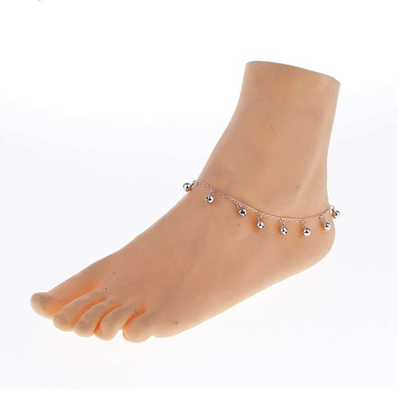 27cm Cute Silver 11 Bells Ankle Chain Women Alloy Anklet Bracelet Adjustable