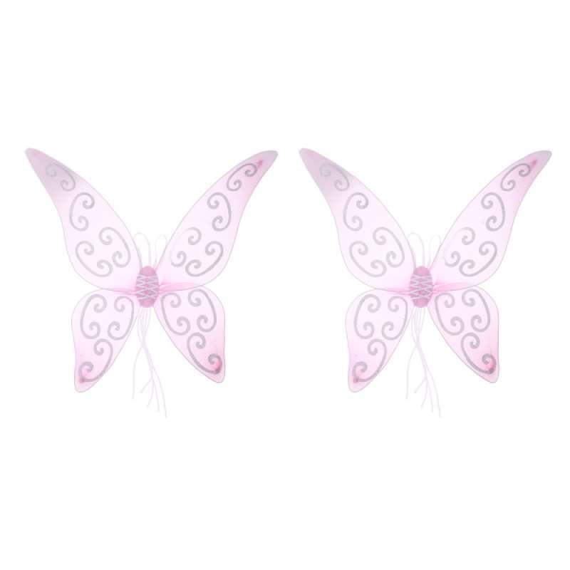 LADIES Fantasy PINK Angel Fairy Wings Fancy Dress Costume Party Hen Night Glitz