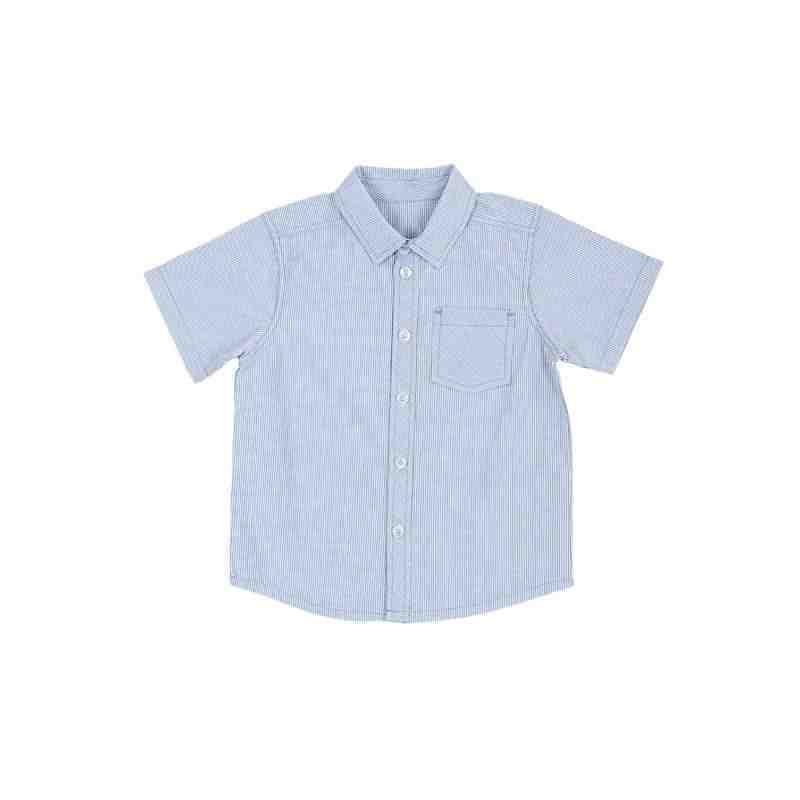 Torio Blue Stripe Shirt Kemeja Anak Laki laki Baju Atasan Anak Laki laki