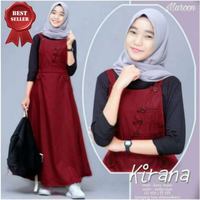 Jual Nanda Fashion Shop Gamis Anak Remaja Usia 12 14 Thn Baju Gamis Muslim Anak Kirana Overall Online Februari 2021 Blibli