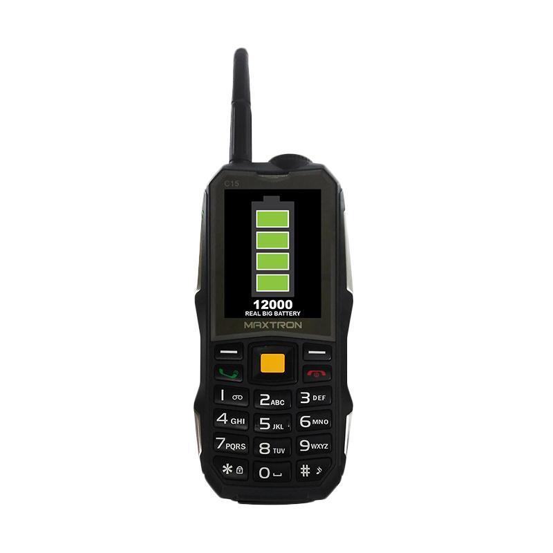 Maxtron C15 New Handphone - Hitam [12000 MAh]