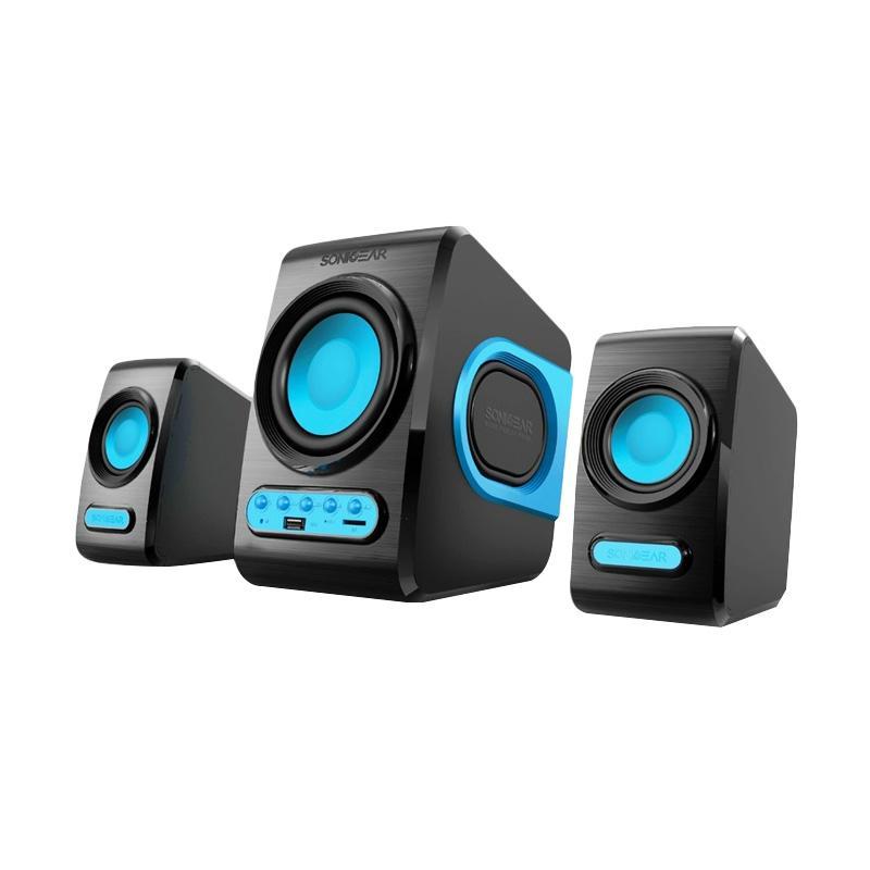 Sonicgear Quatro V 2.1 Speaker - Biru