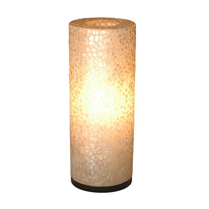 De Erniest New Viona Bulat Lampu Meja - Putih