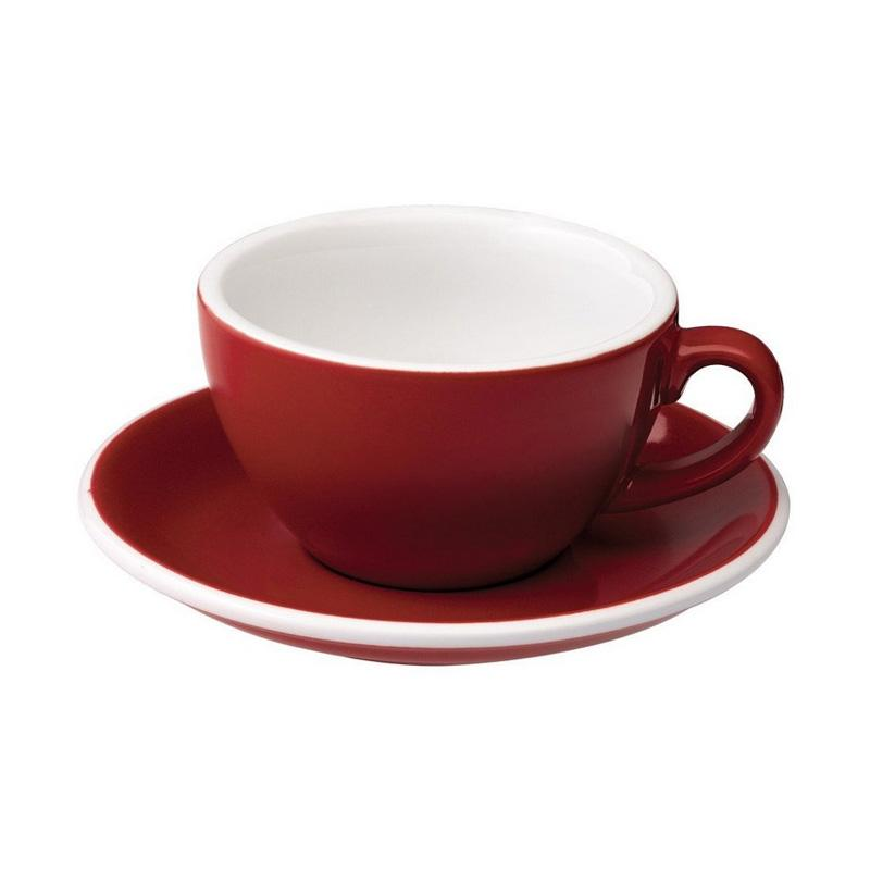 Loveramics Egg Cappuccino Cup & Saucer - Red [200 mL]