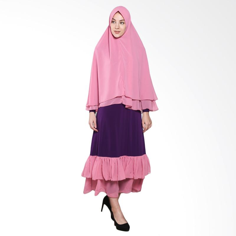 harga Naura Syari Sifon Gamis - Purple Pink Blibli.com