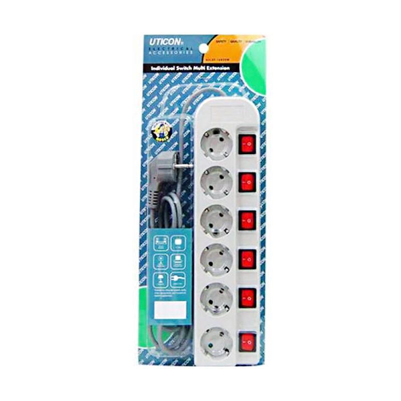 Uticon Switch Stop Kontak [6 Lubang]
