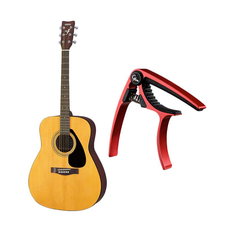 Yamaha Folk F-310 Gitar Akustik with Capo Glow GC-20 - Red F310CAPO