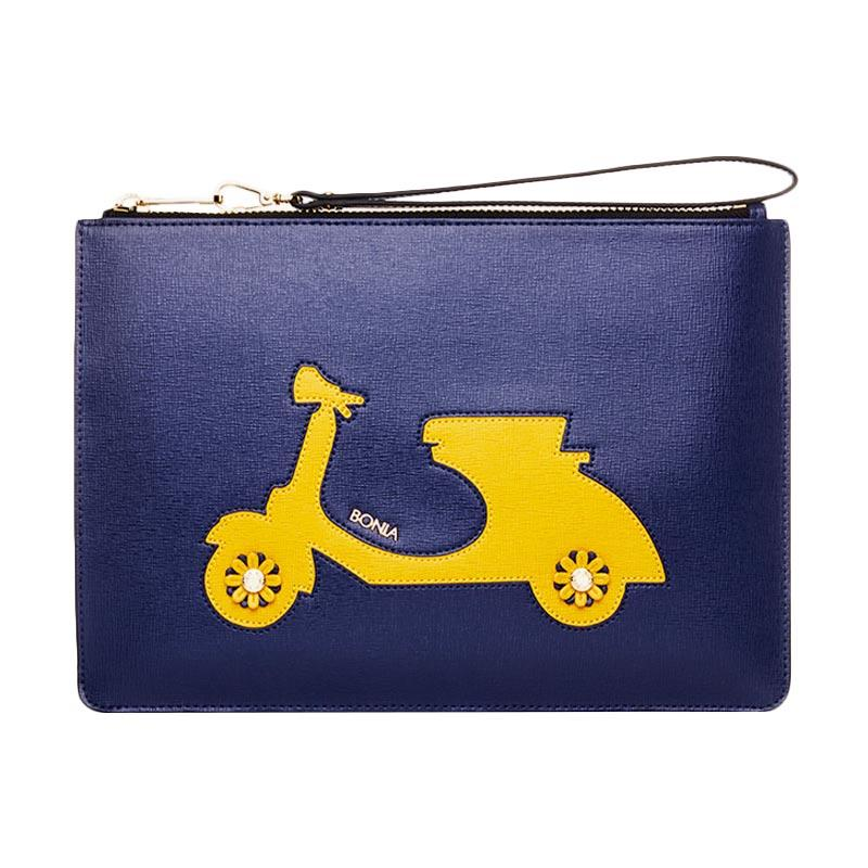 harga Bonia Royal Vespa Mini iPad Pouch - Navy Blibli.com