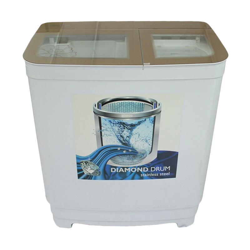 Denpoo 9893 Platinum Mesin Cuci Diamond Drum Stainless[2 Tabung/9Kg]