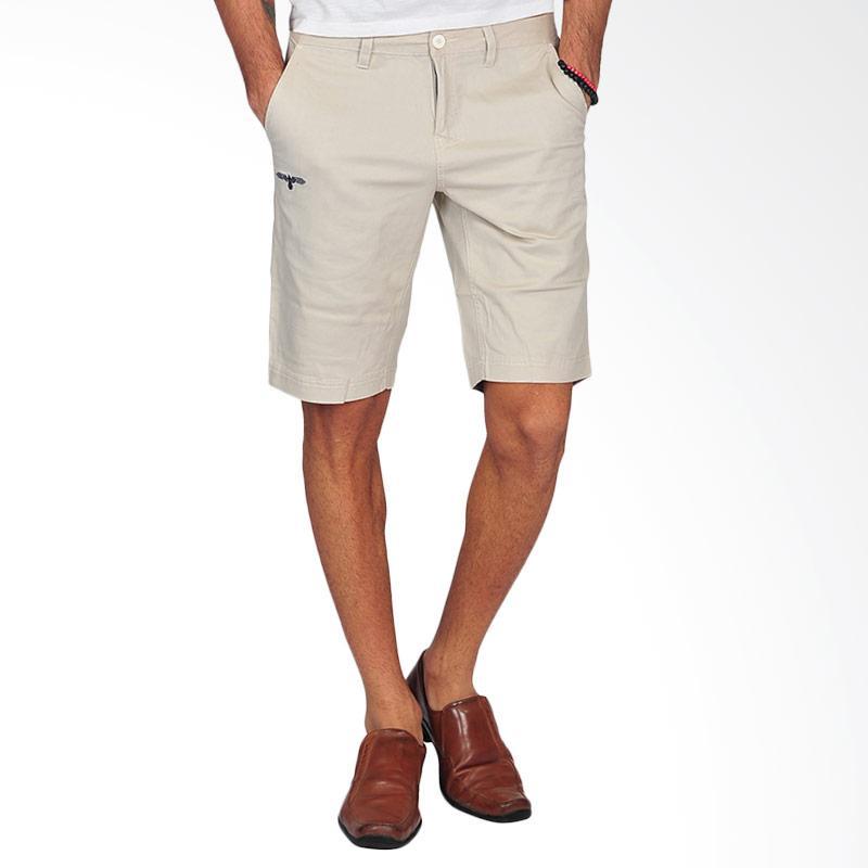 SJO & SIMPAPLY G Maxwell Men's Shorts Celana Pendek Pria - Cream