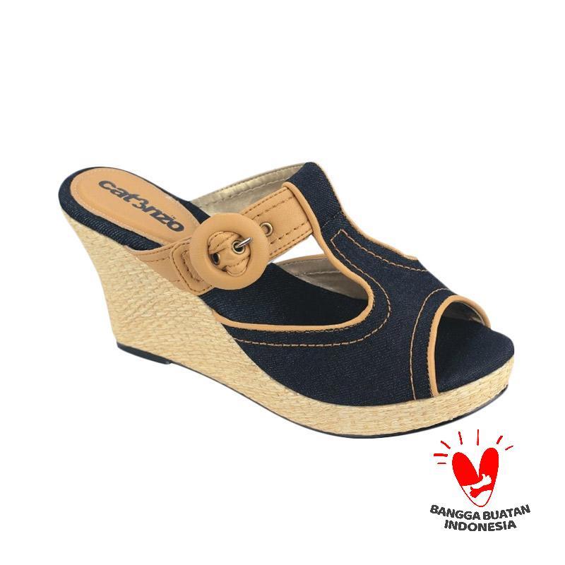 harga Catenzo Caroline AY 564 Sandal Wedges - Peanut Blue Blibli.com