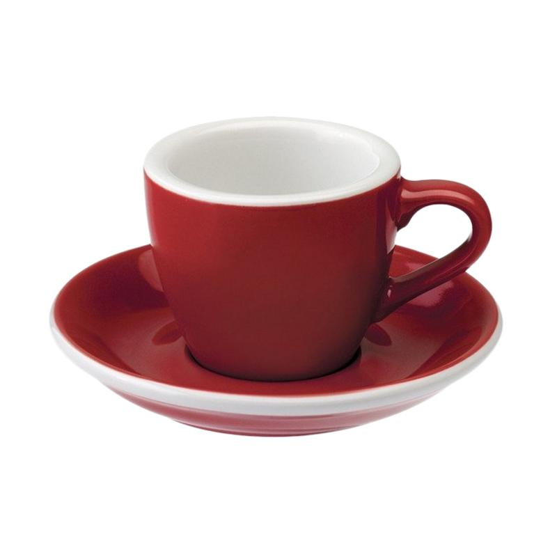 Loveramics Egg Espresso Cup & Saucer - Red [80 mL]