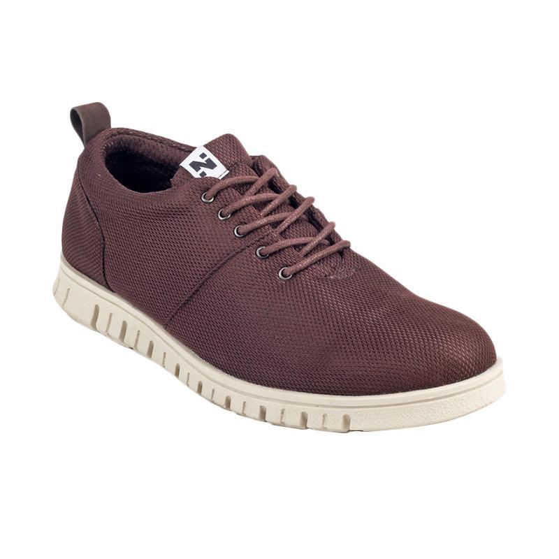 Navara Powell Sneakers Shoes - Brown