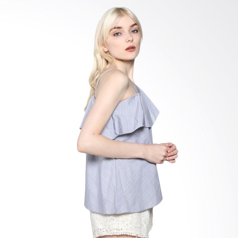Rodeo Blouse Shirt Motif 817.0225.GRY Atasan Wanita - Grey