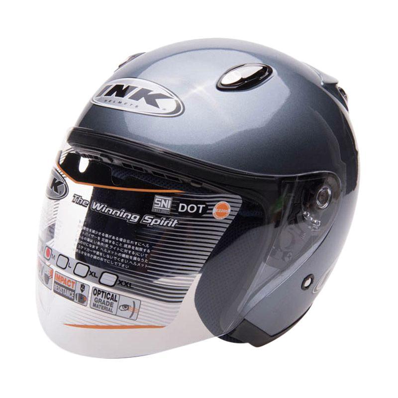 harga INK Centro Jet Solid Helm Half Face - All Grey Blibli.com