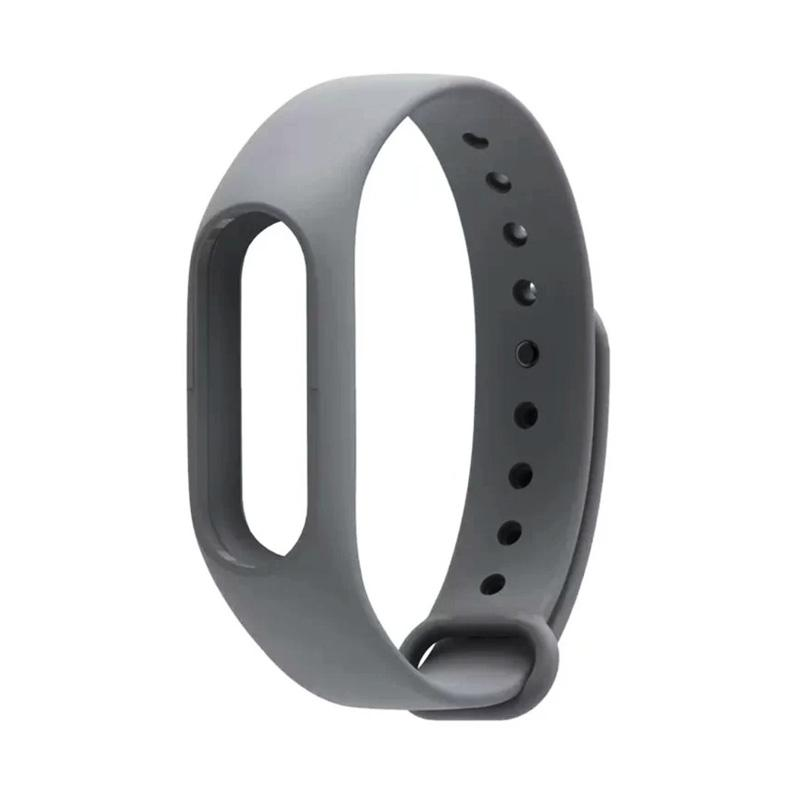 Xiaomi Bracelet Silicone Strap Gelang for Xiaomi Mi Band 2 / Miband 2 / Miband2 / Mi Millet 2 - Grey