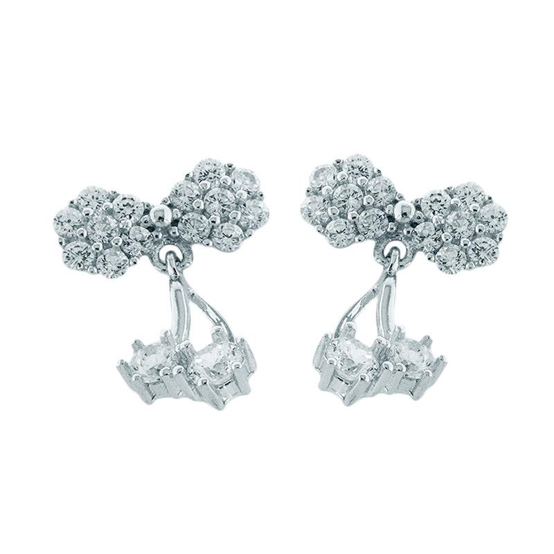 Anna Silver Cherry SWE-0003 Earring