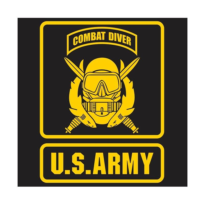 US Army Combat Diver Cutting Sticker