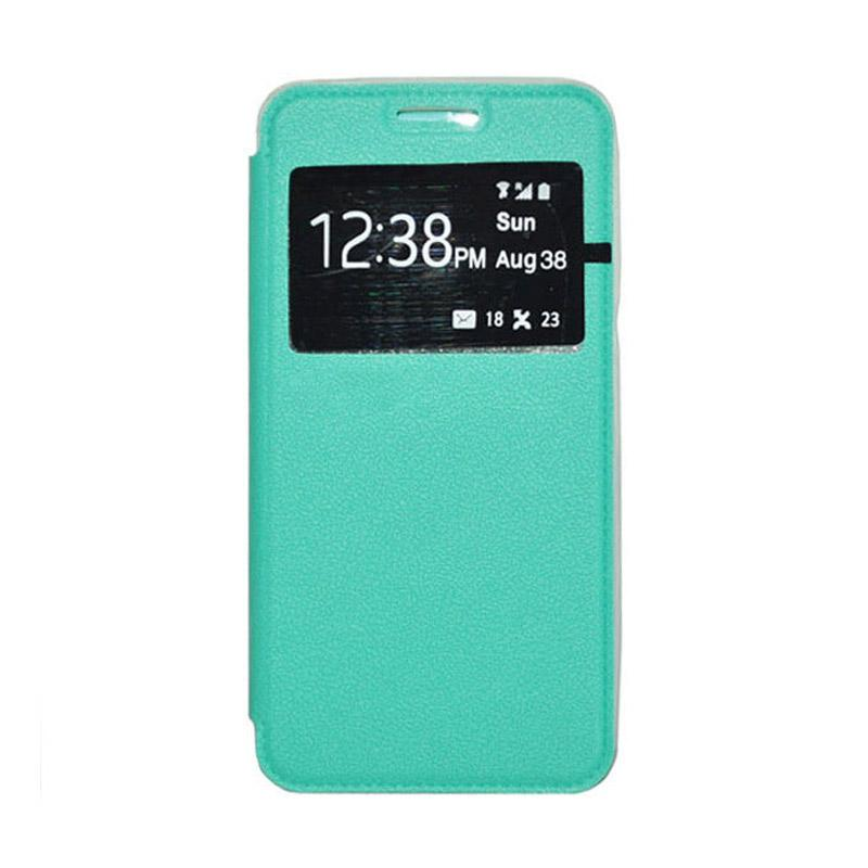 OEM Leather Book Cover Casing for Xiaomi M3 - Green