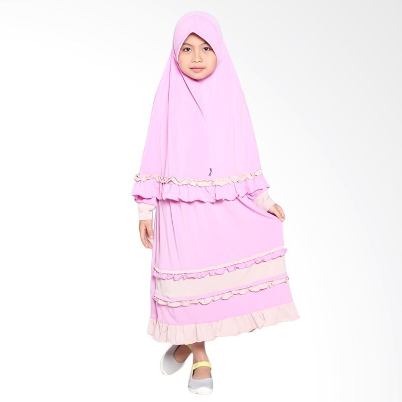 Allev Hafshah Pink Cream Baju Muslim Anak