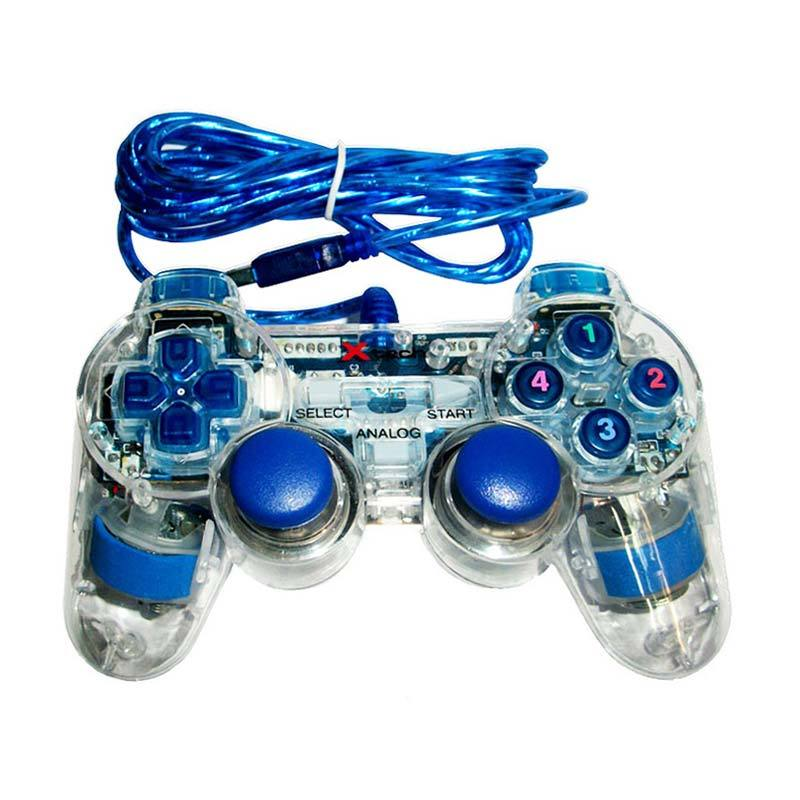 XTECH Transparant Single Gamepad - Blue