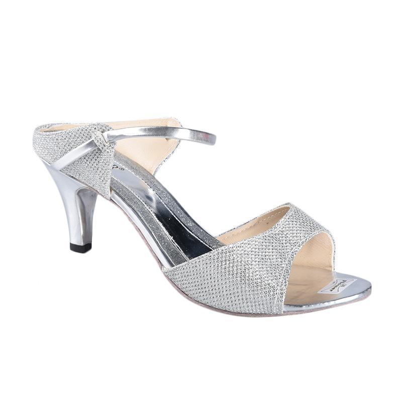 Flower SN-290 High Heels Wanita - Silver