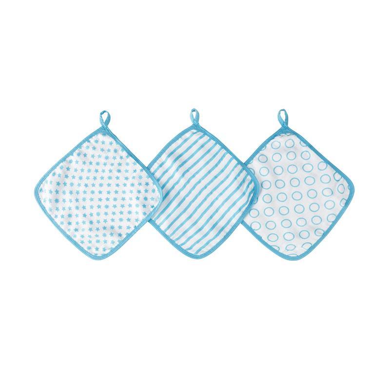 Ideal Baby - 3-Pack Muslin Washcloth - Sunny Side - Kain Pembersih Mandi Bayi dan Anak