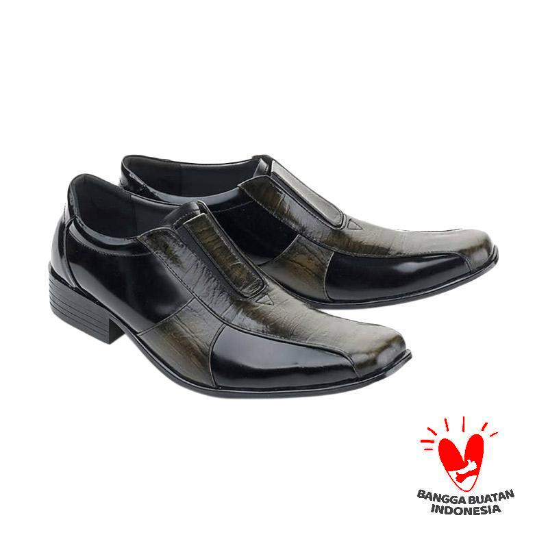 Harga Blackkelly Sepatu Pantofel Kulit Pria - Formal LBP 812 - Brown ... ca29ec8148