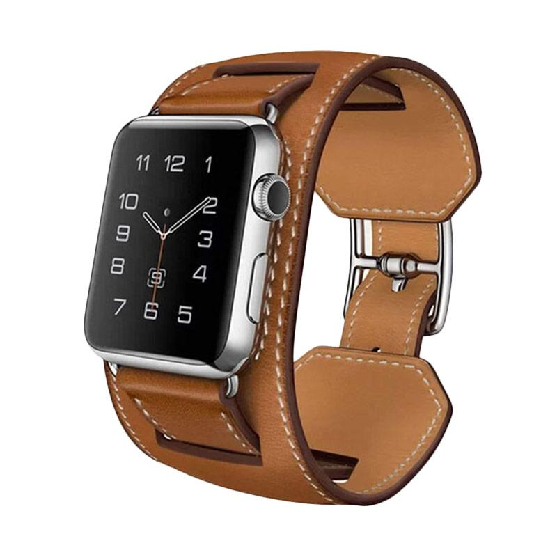 OEM Cuff Leather Strap Band for Apple Watch - Brown [38 mm]