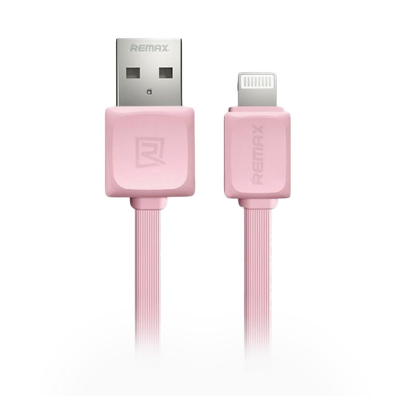Remax Rc 008i Fast Lightning Data Cable - Pink