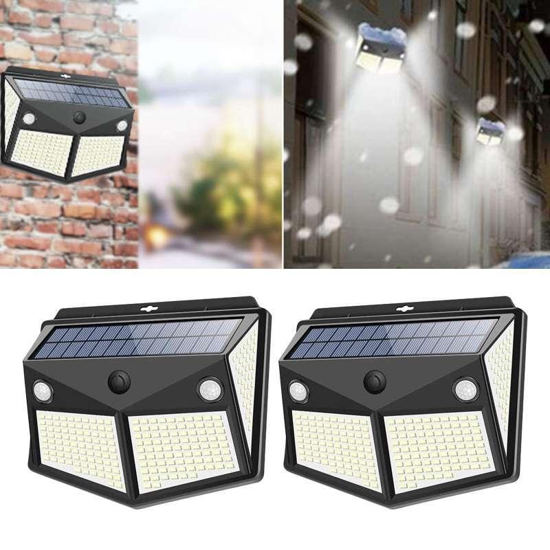 Jual Oem Solar Led Door Wall Lights Outdoor Garden Security Lamp Motion Sensor Ip65 Watproof 2 Pcs Online Januari 2021 Blibli