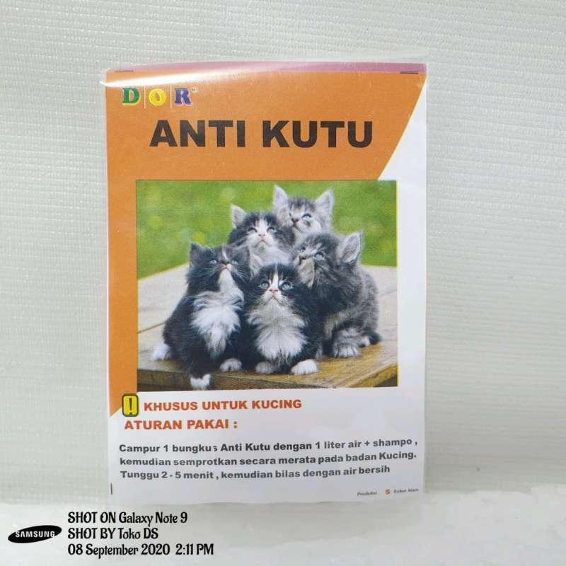 Dor Anti Kutu Kucing Obat Kutu Sachet Kucing