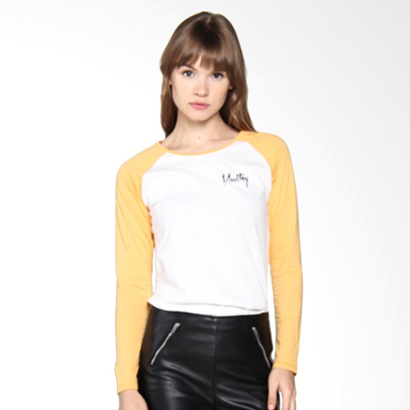 Moutley Ladies T351051722 Casual Girls Kaos Wanita - Yellow