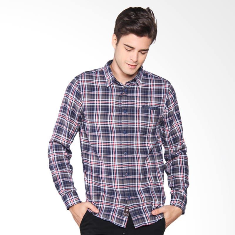 Famo Shirt Kemeja Pria - Grey 502061711
