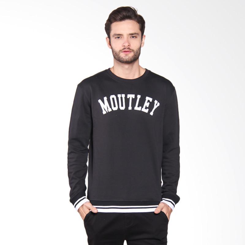 Moutley Sweater Pria - Black 314051715