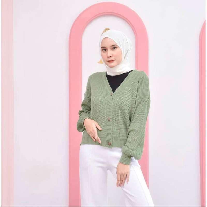 Jual Pakaian Wanita Cardigan Rajut Halus Shireen Cardy Terbaru Juni 2021    Blibli