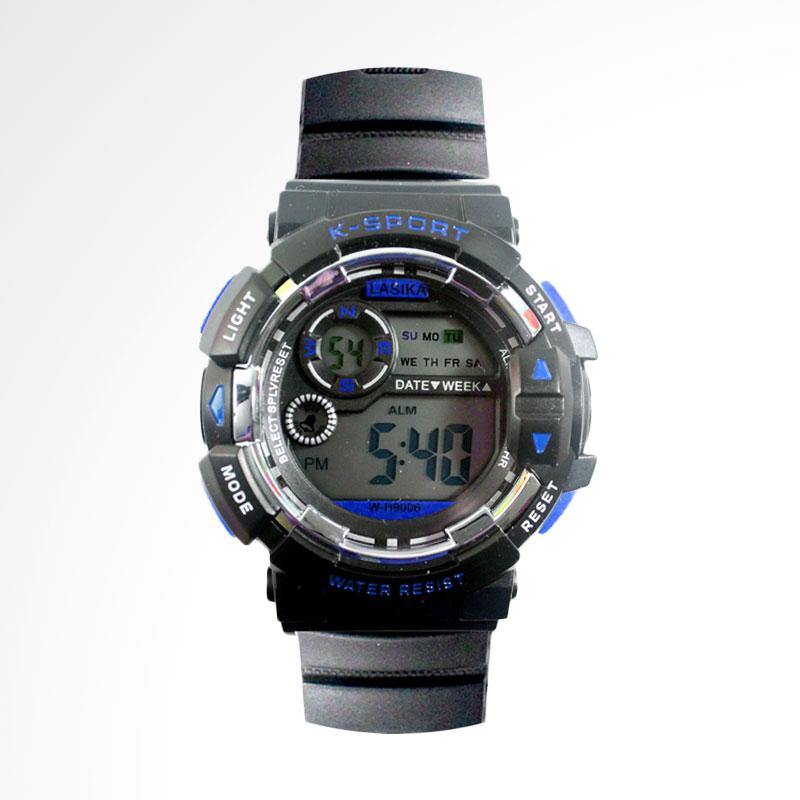 Lasika Digital Jam Tangan Sport Pria - Blue FIN-401A