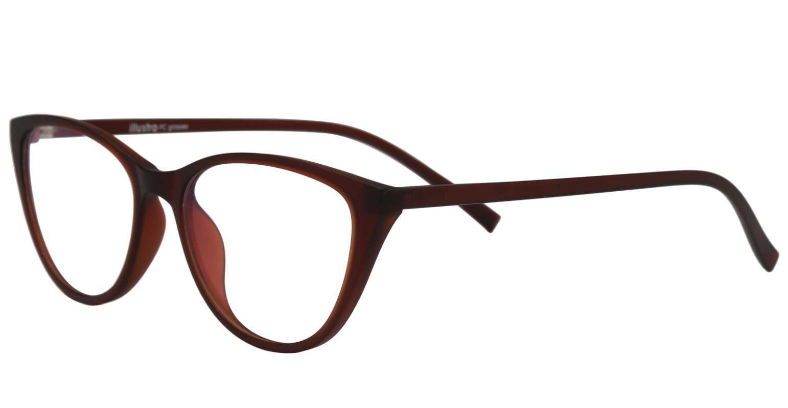 Illustro PC Glasses Kacamata Wanita BROWN