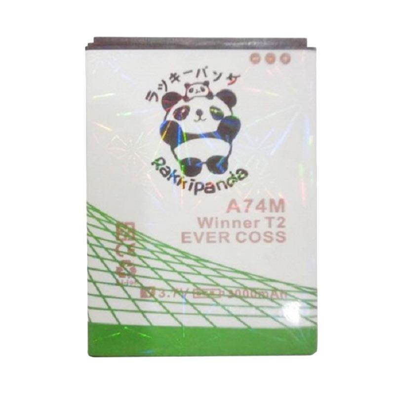 RAKKIPANDA Double Power Double IC Battery for EVERCOSS WINNER T2 A74M