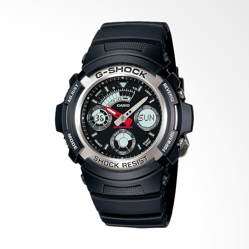 Casio G-Shock Jam Tangan Pria - Hitam AW-590-1A