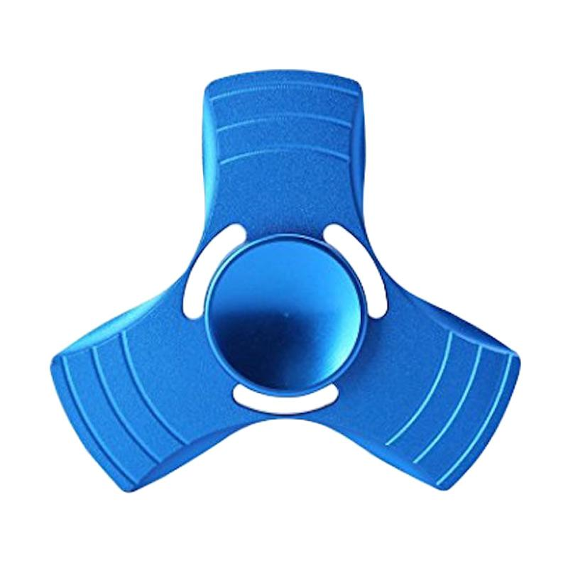 3T Metal Hand EDC Ceramic Ball Focus Games Fidget Spinner Mainan Edukasi - Blue