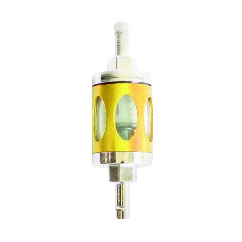 RajaMotor Transparan Motif Filter Bensin - Gold