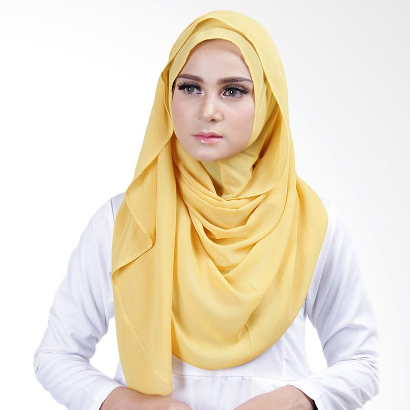 Cantik Kerudung Lizzie Slip In Jilbab Instant - Yellow