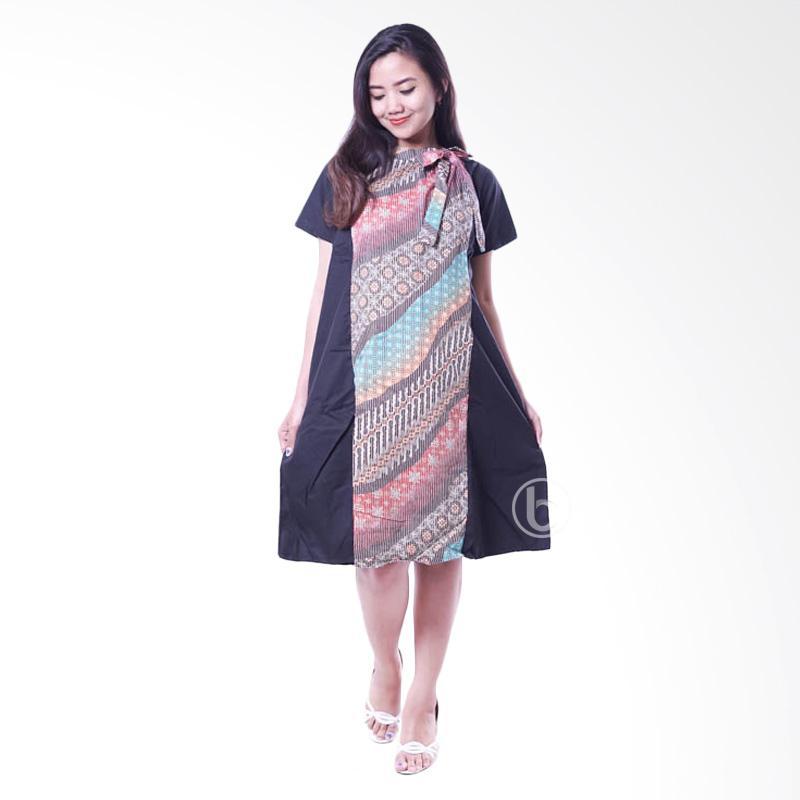 Jual Mama Hamil BTK 144 A Dress Batik Baju Hamil Menyusui  Merah