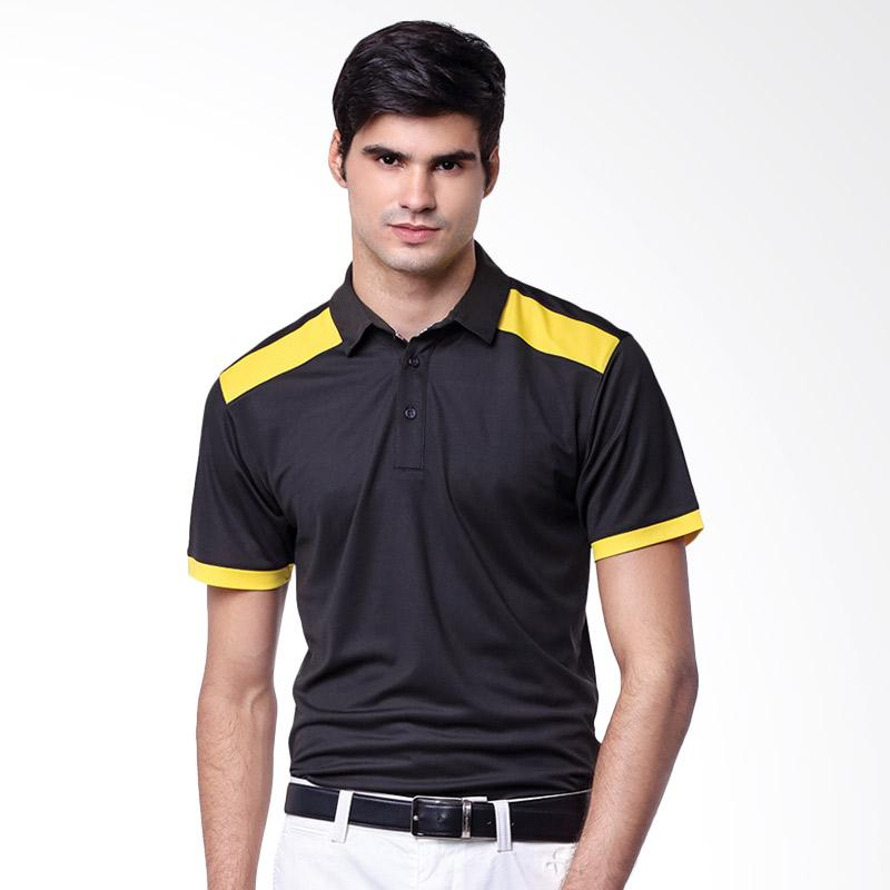 Svingolf Pottery Polo Baju Golf - Black Sunflower