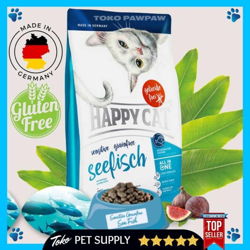 Kebutuhan Kucing Cat Food Makanan Kucing Kering Happy Cat Sensitive Grainfree Sea Fish 300gr Catfood