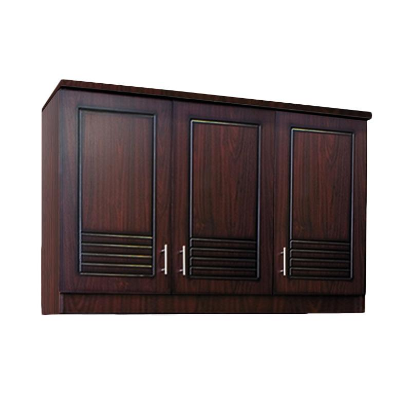 Kirana UK 913 Kitchen Set Lemari Atas - Dark Mahogany [3 Pintu]