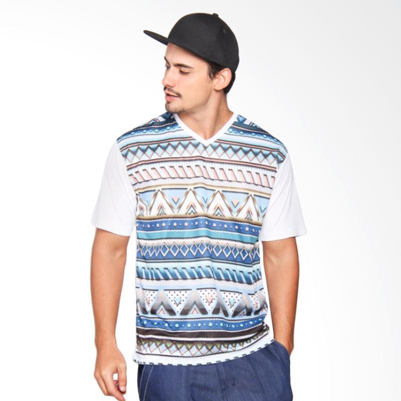 EpicMomo Pattern2 T-Shirt Pria - White [AD.00144]