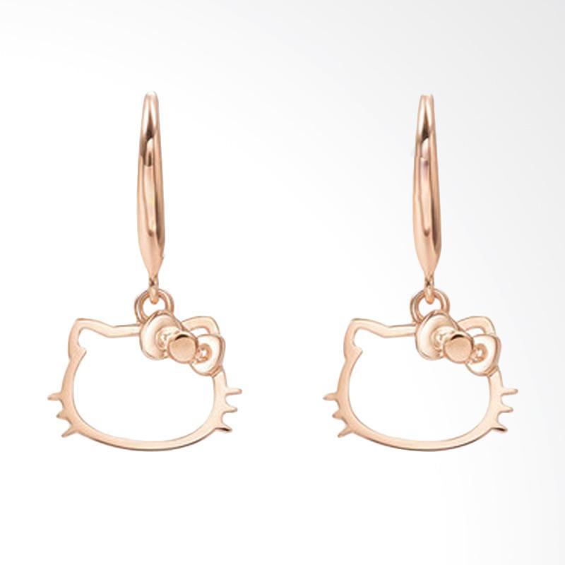 Tiaria 18 K Hello Kitty Gold Earring Perhiasan Anting Emas