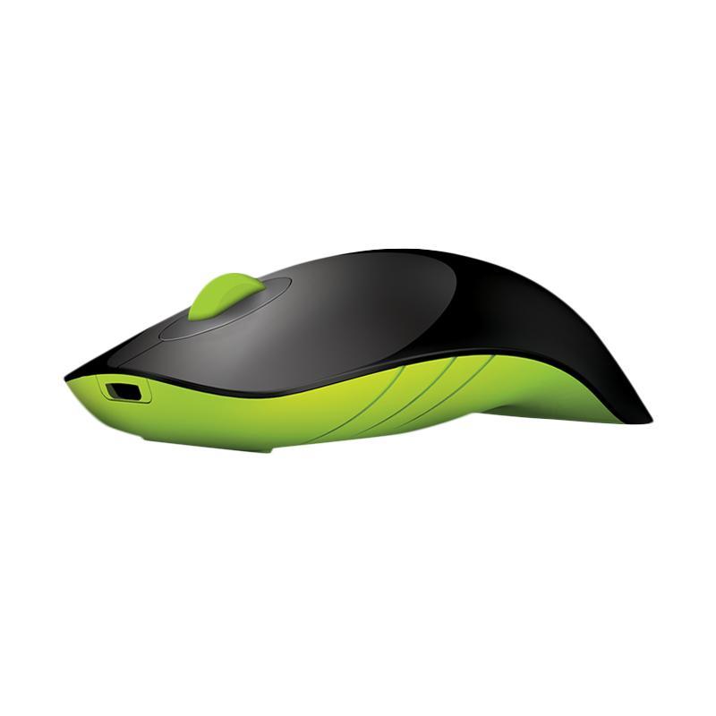 Alcatroz Charge Air Shark Wireless Mouse - Hitam Hijau